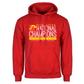 Red Fleece Hoodie-2019 NJCAA National Outdoor Track and Field Champions