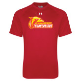 Under Armour Red Tech Tee-Primary Logo