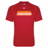 Under Armour Red Tech Tee-Thunderbirds Word Mark