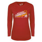 Ladies Syntrel Performance Red Longsleeve Shirt-2019 Baseball Champions