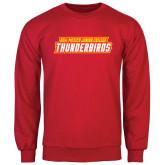 Red Fleece Crew-Thunderbirds Word Mark
