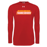 Under Armour Red Long Sleeve Tech Tee-Thunderbirds Word Mark