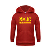 Youth Red Fleece Hoodie-NMJC Thunderbirds Stencil Bar