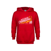 Youth Red Fleece Hoodie-2019 Baseball Champions