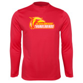Performance Red Longsleeve Shirt-Primary Logo