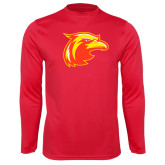 Performance Red Longsleeve Shirt-Thunderbird Head