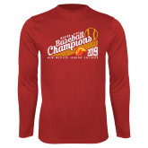 Performance Red Longsleeve Shirt-2019 Baseball Champions