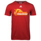 Adidas Climalite Red Ultimate Performance Tee-Primary Logo