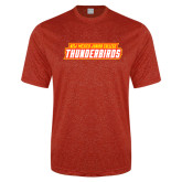 Performance Red Heather Contender Tee-Thunderbirds Word Mark
