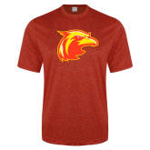 Performance Red Heather Contender Tee-Thunderbird Head