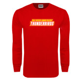 Red Long Sleeve T Shirt-Thunderbirds Word Mark