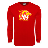 Red Long Sleeve T Shirt-NM Head Logo