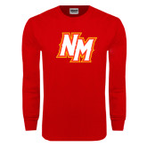 Red Long Sleeve T Shirt-NM Lettermark