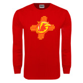 Red Long Sleeve T Shirt-Thunderbirds Zia Logo