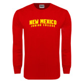 Red Long Sleeve T Shirt-Arched New Mexico Junior College
