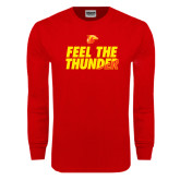 Red Long Sleeve T Shirt-Feel The Thunder