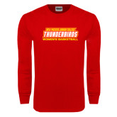 Red Long Sleeve T Shirt-Womens Basketball