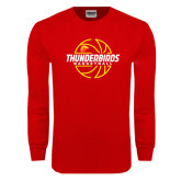 Red Long Sleeve T Shirt-Thunderbirds Basketball Lined Ball