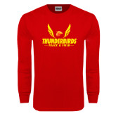Red Long Sleeve T Shirt-Thunderbirds Track & Field Wings