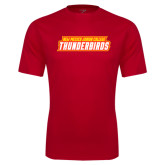 Performance Red Tee-Thunderbirds Word Mark