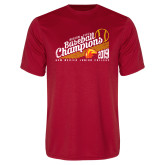 Performance Red Tee-2019 Baseball Champions