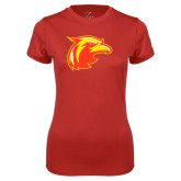 Ladies Syntrel Performance Red Tee-Thunderbird Head