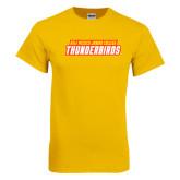 Gold T Shirt-Thunderbirds Word Mark