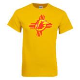 Gold T Shirt-Thunderbirds Zia Logo