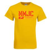 Gold T Shirt-NMJC Thunderbirds Stencil Bar