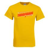Gold T Shirt-Slanted Thunderbirds Stencil