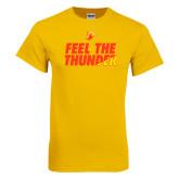 Gold T Shirt-Feel The Thunder