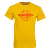 Gold T Shirt-Thunderbirds Basketball Lined Ball
