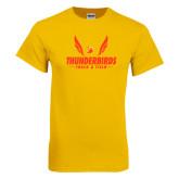 Gold T Shirt-Thunderbirds Track & Field Wings