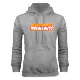Grey Fleece Hoodie-Thunderbirds Word Mark