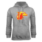 Grey Fleece Hoodie-Thunderbird Head