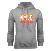 Grey Fleece Hoodie-NMJC Thunderbirds Lettermark