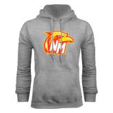 Grey Fleece Hoodie-NM Head Logo