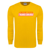 Gold Long Sleeve T Shirt-Thunderbirds Word Mark