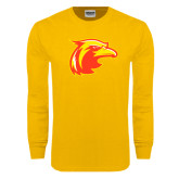Gold Long Sleeve T Shirt-Thunderbird Head