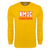 Gold Long Sleeve T Shirt-NMJC Thunderbirds Lettermark