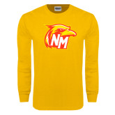 Gold Long Sleeve T Shirt-NM Head Logo