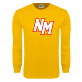 Gold Long Sleeve T Shirt-NM Lettermark