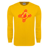 Gold Long Sleeve T Shirt-Thunderbirds Zia Logo