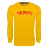 Gold Long Sleeve T Shirt-Arched New Mexico Junior College