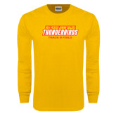 Gold Long Sleeve T Shirt-Track & Field