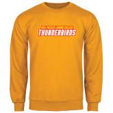 Gold Fleece Crew-Thunderbirds Word Mark