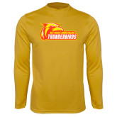 Performance Gold Longsleeve Shirt-Primary Logo