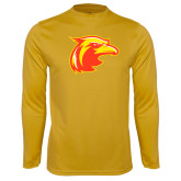 Performance Gold Longsleeve Shirt-Thunderbird Head