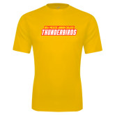 Performance Gold Tee-Thunderbirds Word Mark