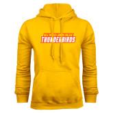 Gold Fleece Hoodie-Thunderbirds Word Mark
